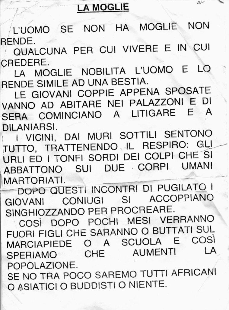 Mario Marenco - La moglie