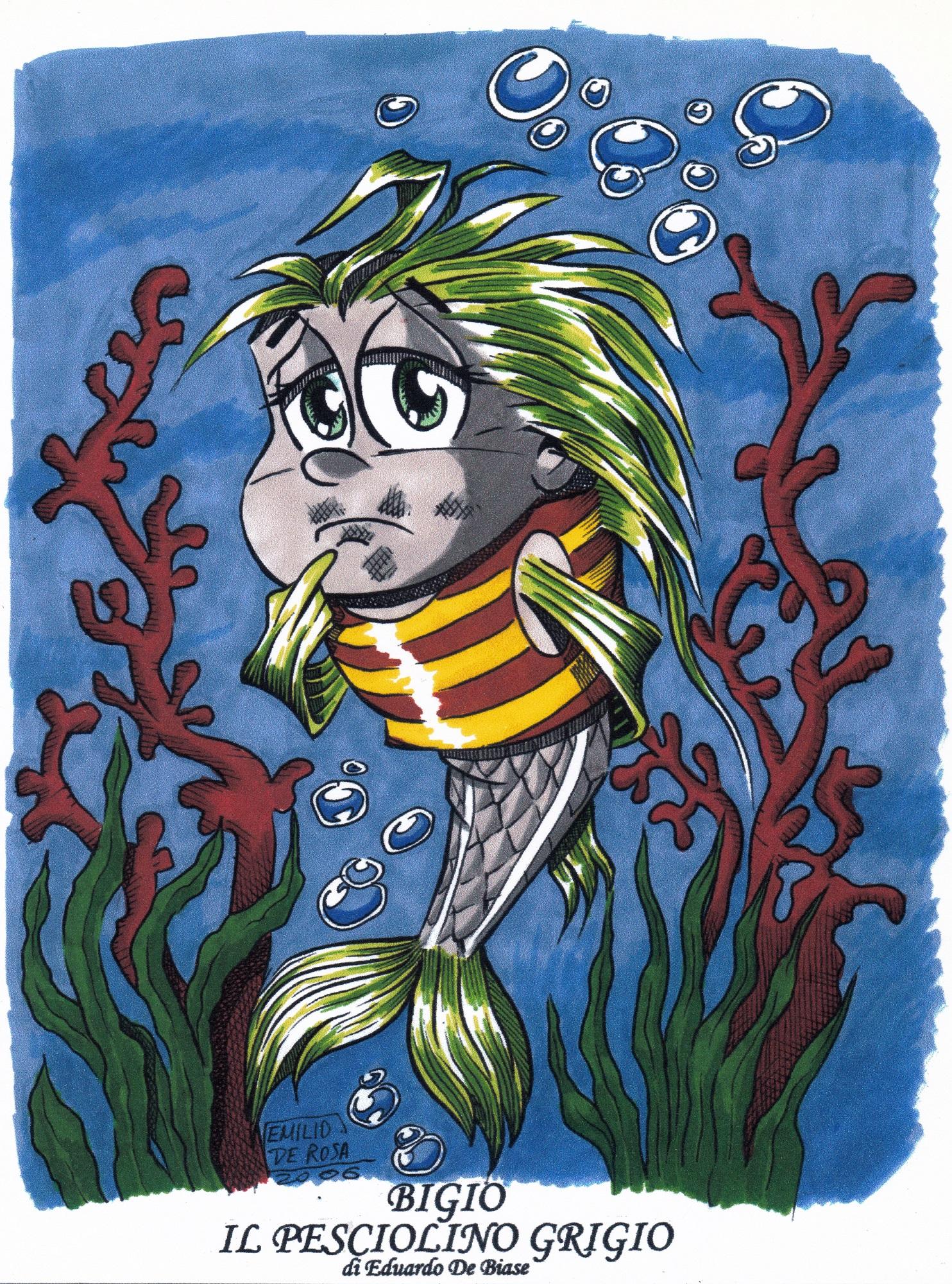 Eduardo de Biase: Bigio il pesciolino grigi. Illustrazioni di Emilio De Rosa