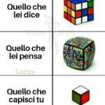 non capisci un cubo