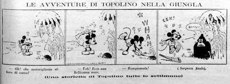 90 ANNI FA LA PRIMA STORIA DI TOPOLINO IN ITALIA