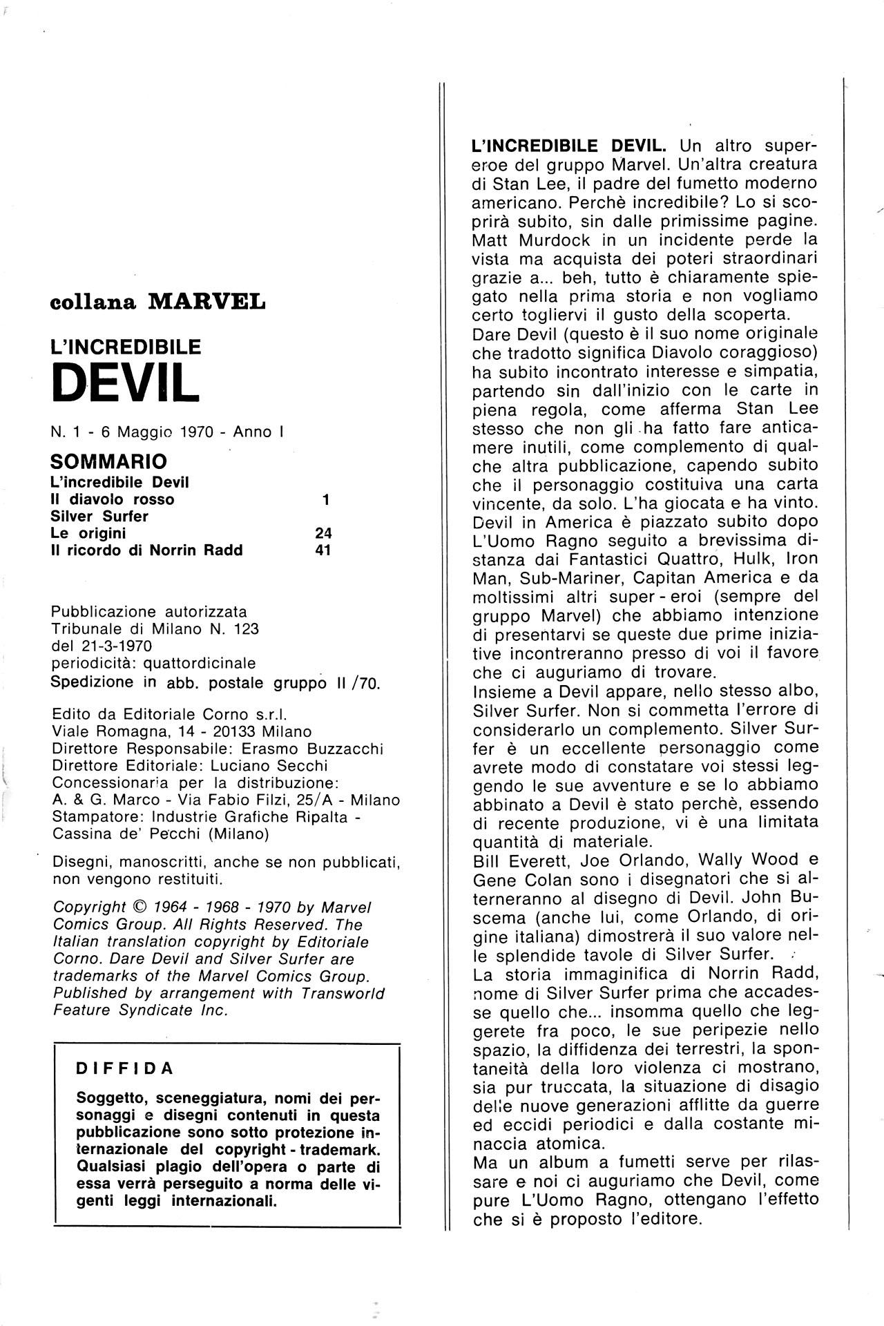I PRIMI 5 NUMERI ITALIANI DI DEVIL