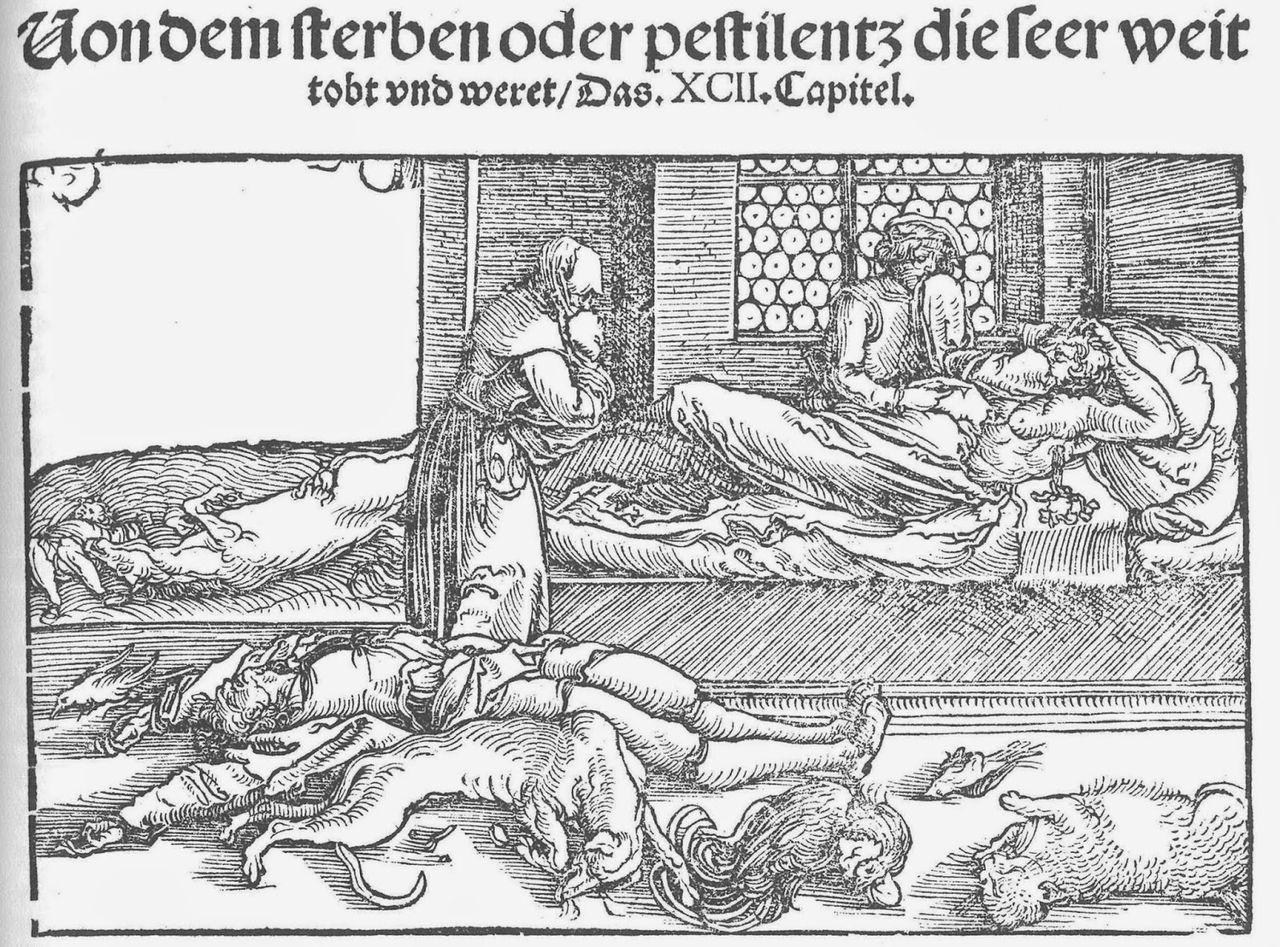 peste. 1532. Landesmuseum Baden. quarantena