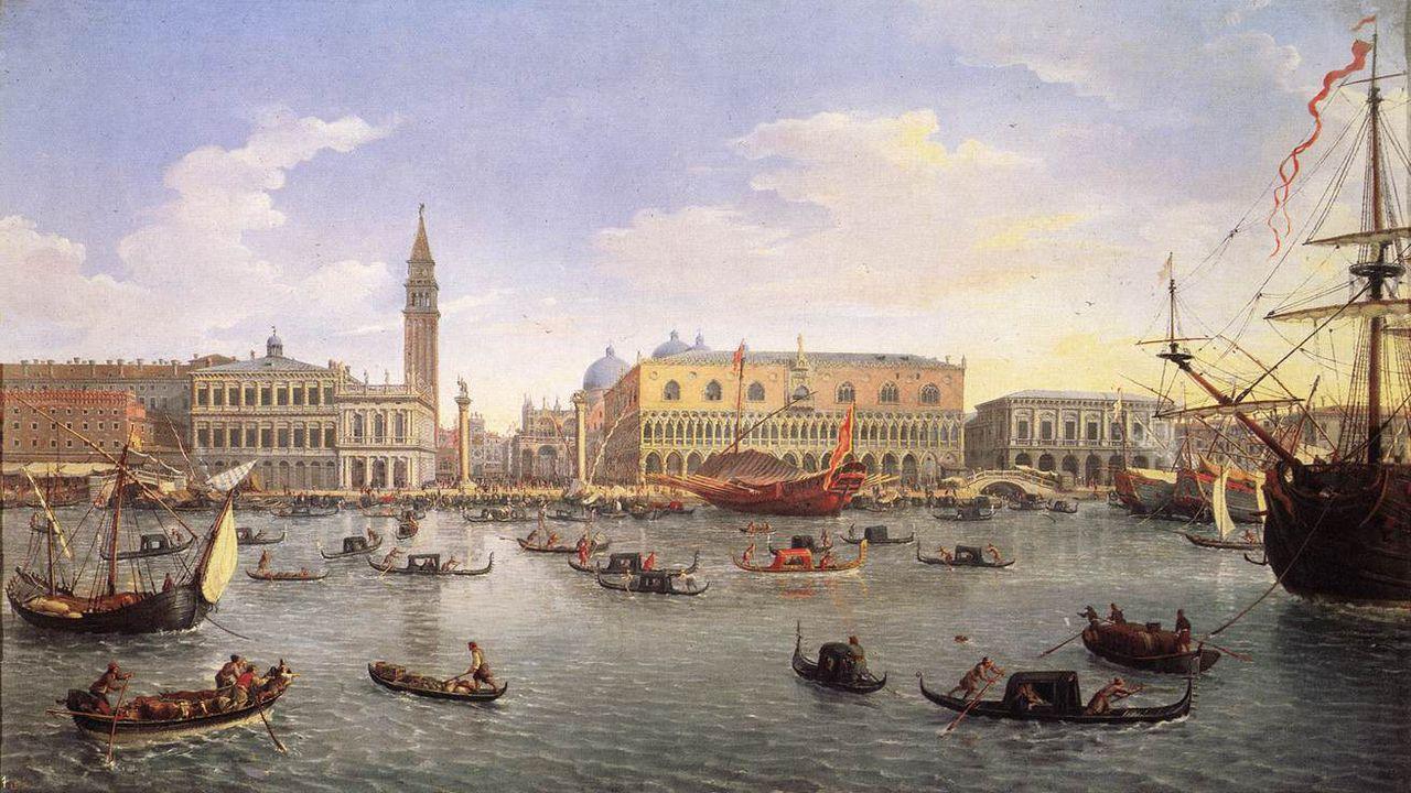 Il porto di Venezia nel 1697. Prado. quarantena