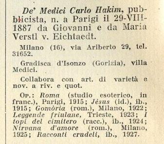 DAL GOTICO INGLESE A QUELLO ITALIANO DI CARLO H. DE' MEDICI