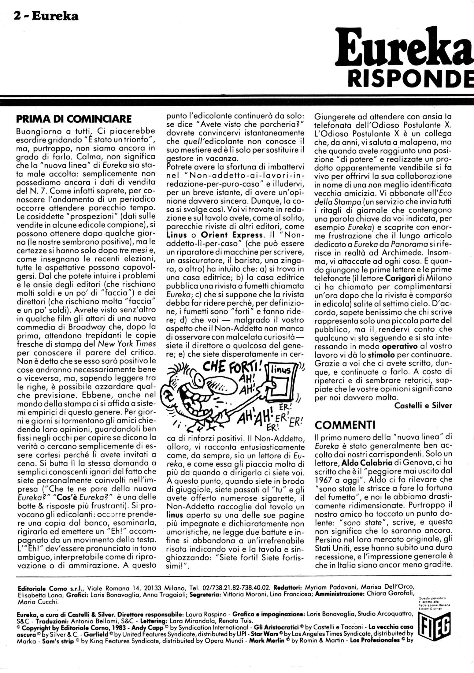 ALFREDO CASTELLI DIRIGE EUREKA