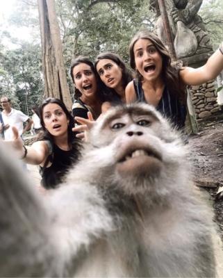 Il selfie del fidanzato
