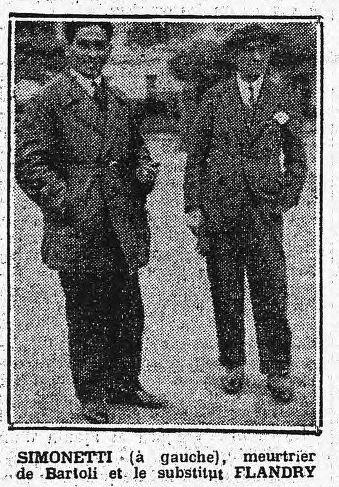 Jean Simonetti, a sinistra