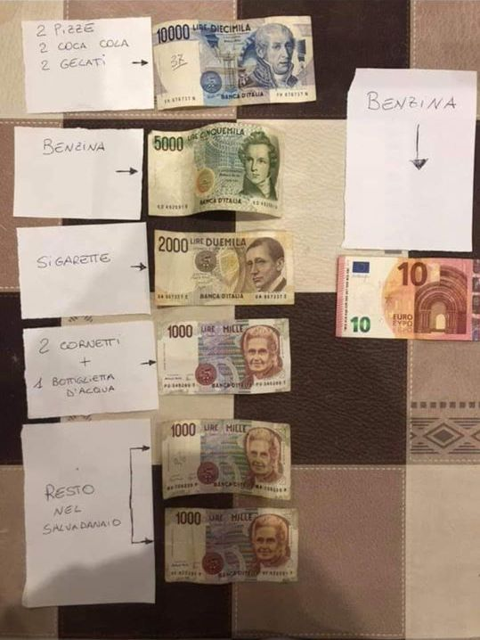 DIFFERENZA DI PREZZI TRA LIRA ED EURO