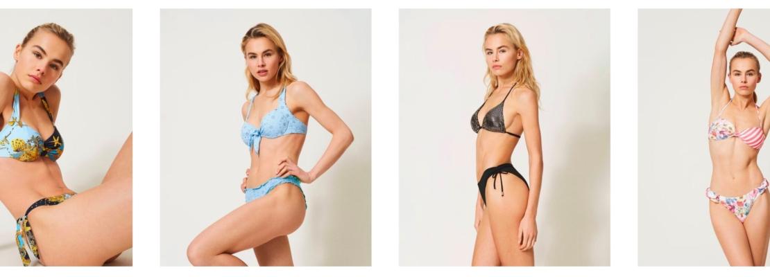 I trend sono vari e permettono di scegliere tra tante proposte di costumi da bagno, ricordando che il bikini è quello che va per la maggiore.